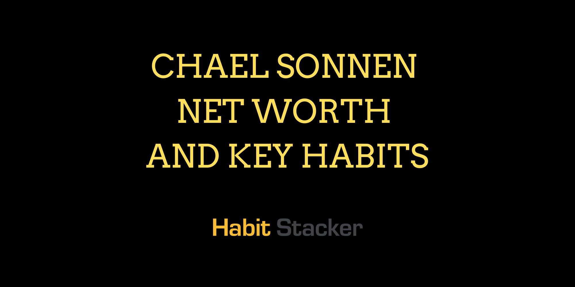 Chael Sonnen Net Worth | Habit Stacker