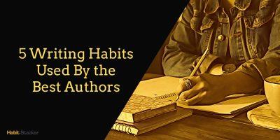 writing habits writer's work