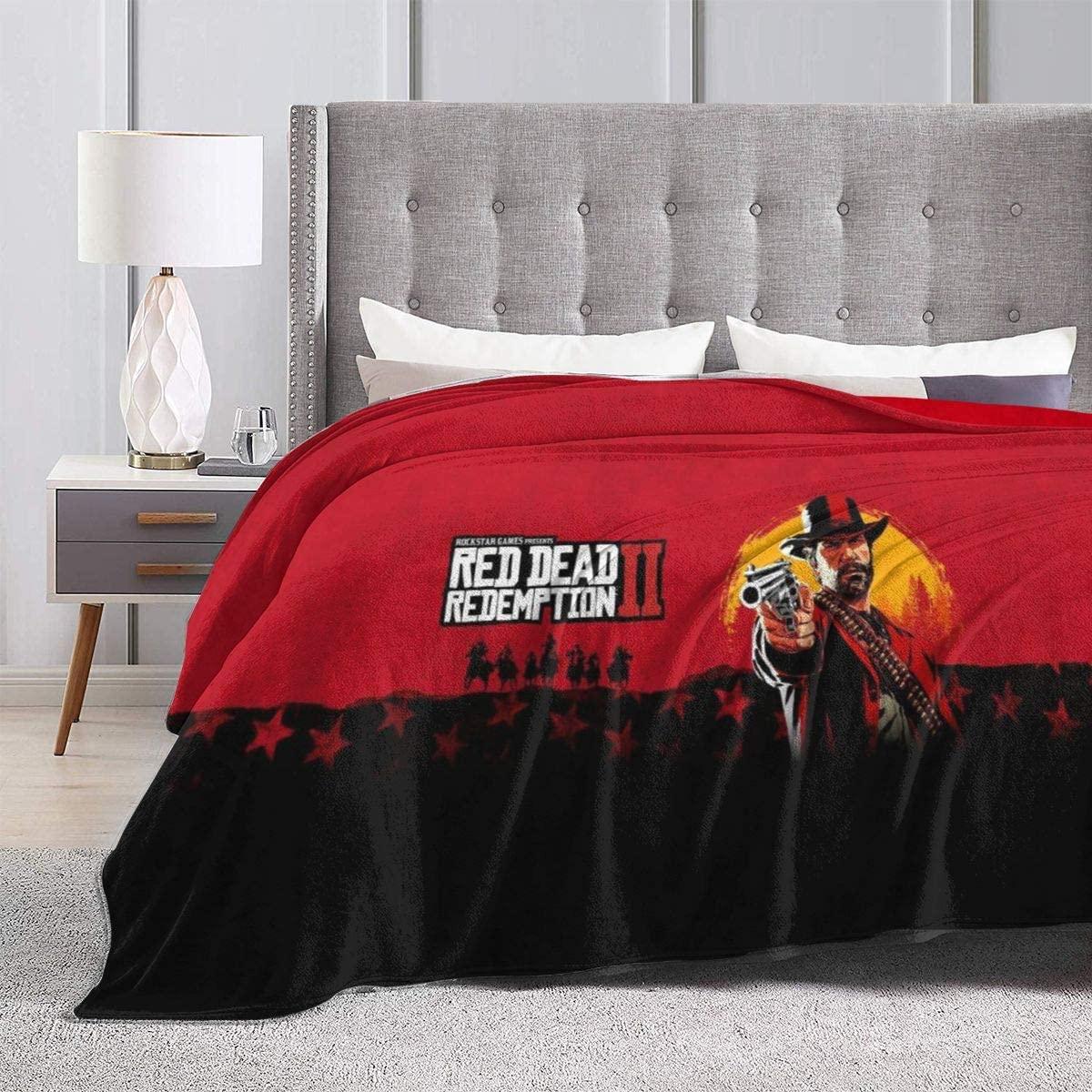 Red De-ad Red-em-Ption 2 Ultra Soft Anti-Pilling Flannel Blanket Arthur Morgan Throw Blanket Warm Plush Cozy Soft Blankets 50X60''