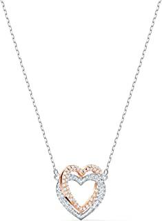 Women's Infinity Heart Bangle Bracelet & Necklace Rose-Gold