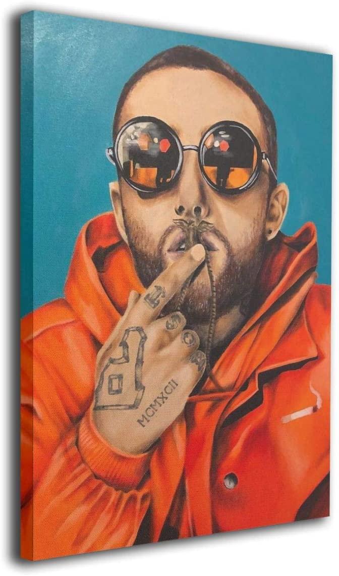 Mac-Miller Rapper Singer Poster Wall Art Decor Framed Print 8x12