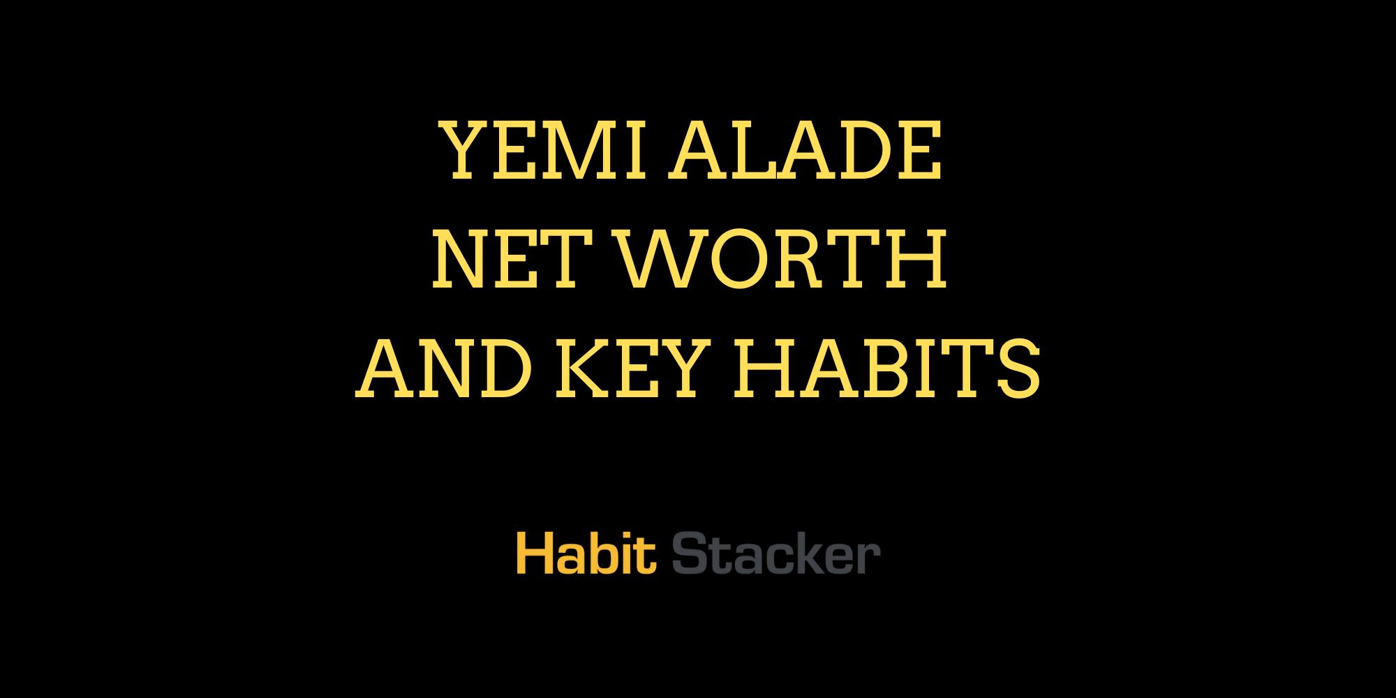 Yemi Alade Net Worth and Key Habits