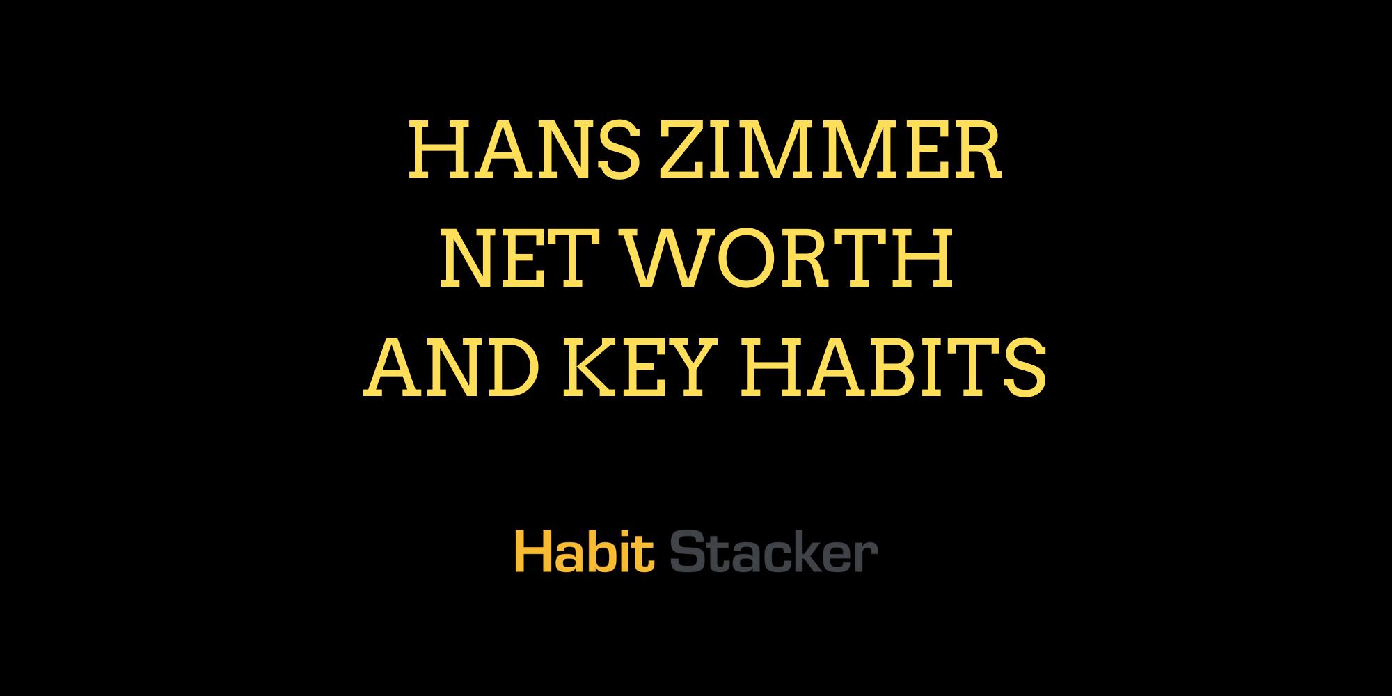Hans Zimmer Net Worth