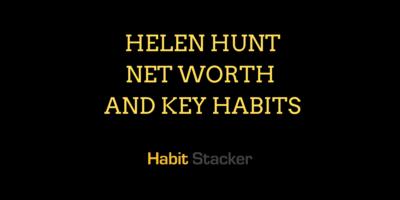 Helen Hunt Net Worth